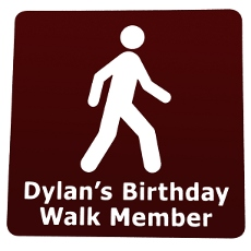 'Your Birthday Walk' participating business sign
