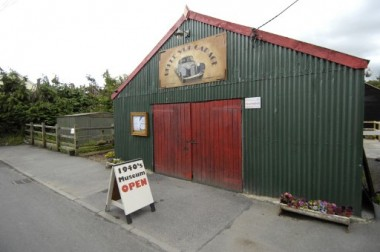 Entrance to the Tin shed